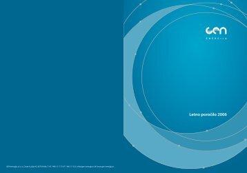 Letno poročilo 2006 (.pdf) - Gen energija, doo