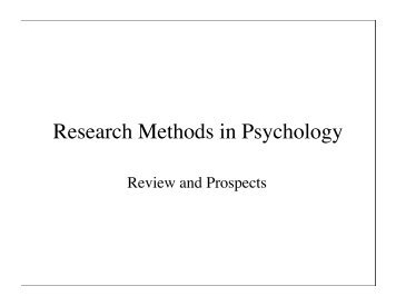 research methods in psychology Get familiar with the different research methods in psychology to help understand psychological phenomenon know the various methods of research in psychology.