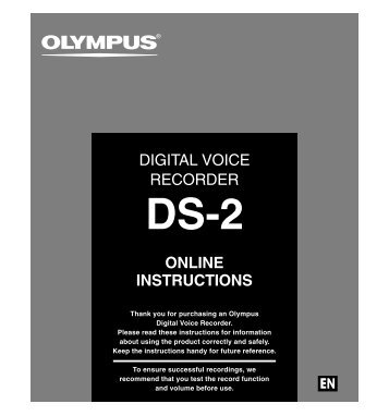 "Digital Voice Recorder is ""DS-2"" - Bytescribe"