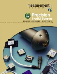 Precision Inertial Products Selection Guide - Spectrum Sensors ...