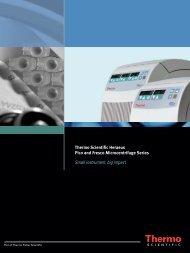 Thermo Scientific Heraeus Pico and Fresco Microcentrifuge Series ...