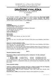 Dražební vyhláška - e-aukce