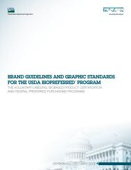 Brand guidelines and graphic standards for the usda Biopreferred ...