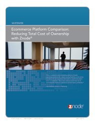 Ecommerce Platform Comparison: Reducing Total Cost of ... - Znode