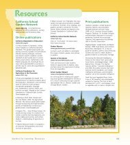 Resources and Back Cover - California School Garden Network