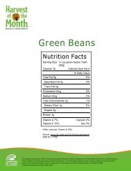 Green Beans (PDF) - Harvest of the Month