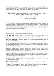 Na podlagi 25. člena Zakona o varstvu osebnih podatkov (Ur.l. RS ...
