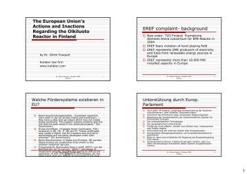 EREF complaint- background - Updating International Nuclear Law