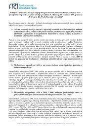 Podaci o statusu na tržištu rada - FREN