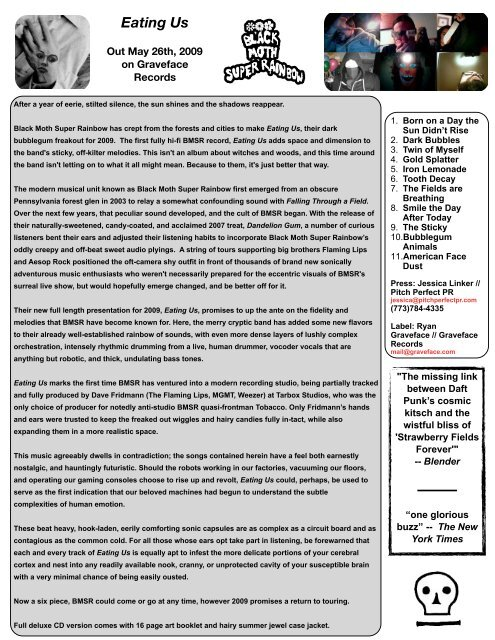 BMSR new one sheet - Pitch Perfect PR