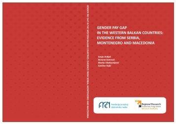 Gender Pay Gap in the Western Balkan Countries