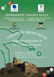 Scarica la brochure - Federazione Italiana Bocce