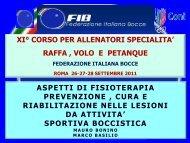 prevenzione - Federazione Italiana Bocce
