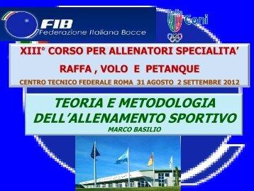 Periodi dell'allenamento - Federazione Italiana Bocce