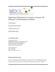 Optimizing Thermoelectric Cascades to Increase the Efficiency of ...