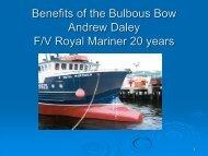 Benefits of the Bulbous Bow F/V Royal Mariner - CCFI