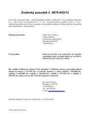 Znalecký posudek č. 4879-043/13 - Exekutorský úřad Praha 4 JUDr ...