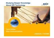 Studying Deeper Knowledge About DPI Technology - JANOG