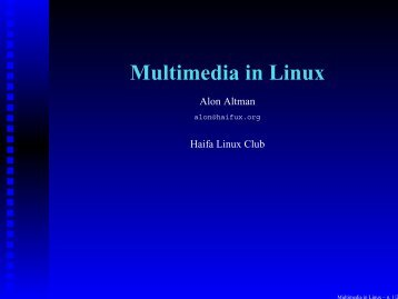 lecture slides in pdf format - Haifa Linux Club