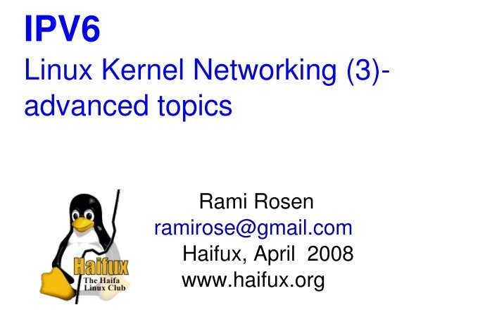 linux kernel networking by rami rosen Buy or rent linux kernel networking as an etextbook and get instant access with vitalsource, you can save up to 80% compared to print linux kernel networking implementation and theory by rami rosen.