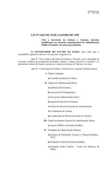lei nº 6.812 de 18 de janeiro de 1995 - SEMA - Secretaria do Meio ...