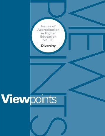 Viewpoints Vol. 3: Diversity (PDF) - ABET
