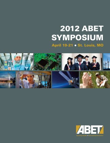 2012 ABET Symposium Program Book