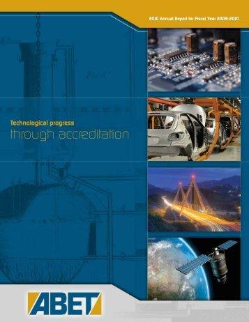 2010 ABET Annual Report