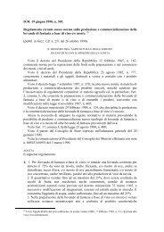 Regolamento recante nuove norme sulla produzione e ... - Ismea