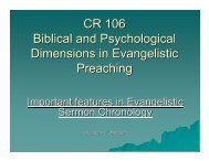 CR 106 Biblical and Psychological Dimensions in Evangelistic ...
