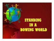 STANDING IN A BOWING WORLD - Good News Gospel Explosion