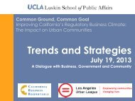 Trends and Strategies - UCLA Luskin School of Public Affairs