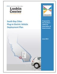 South Bay Cities Plug-in Electric Vehicle ... - Luskin Center