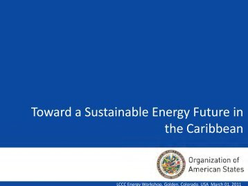 Toward a Sustainable Energy Futuer in the Caribbean