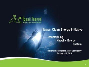 Hawai'i Clean Energy Initiative - Energy Development in Island ...