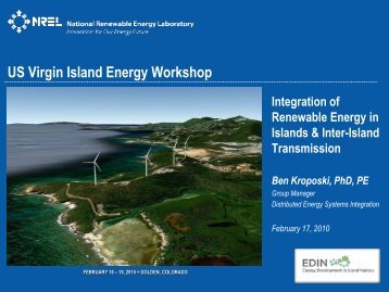 Integration of Renewable Energy in Islands & Interisland Transmission