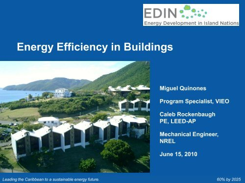 Energy Efficiency in Buildings - Energy Development in Island Nations