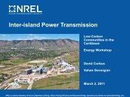 Inter-island Power Transmission - Energy Development in Island ...