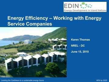 Working with Energy Service Companies - Energy Development in ...