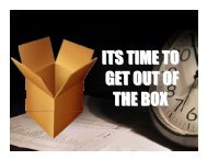 ITS TIME TO GET OUT OF THE BOX - Good News Gospel Explosion