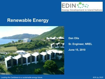 Renewable Energy - Energy Development in Island Nations