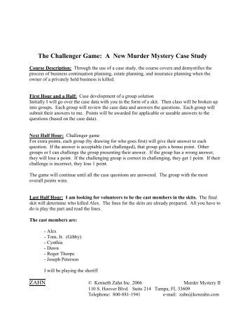 Murder Case Study | Researchomatic