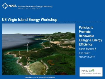 Policies to Promote Renewable Energy & Energy Efficiency