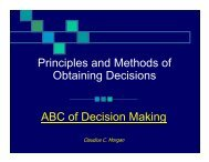 Principles and Methods of Obtaining Decisions ABC of Decision ...