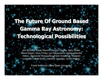 Technology - Gamma Ray Astronomy - Iowa State University