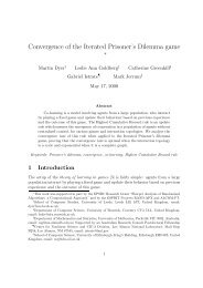 Convergence of the Iterated Prisoner's Dilemma game - School of ...