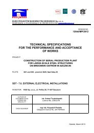 technical specifications for the performance and acceptance of works