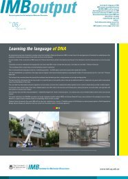 Learning the language of DNA - Institute for Molecular Bioscience