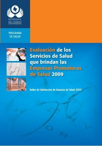 Evaluación de los Servicios de Salud que brindan las Empresas ...