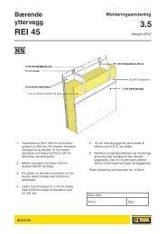 Bærende yttervegg REI 45 - Glava
